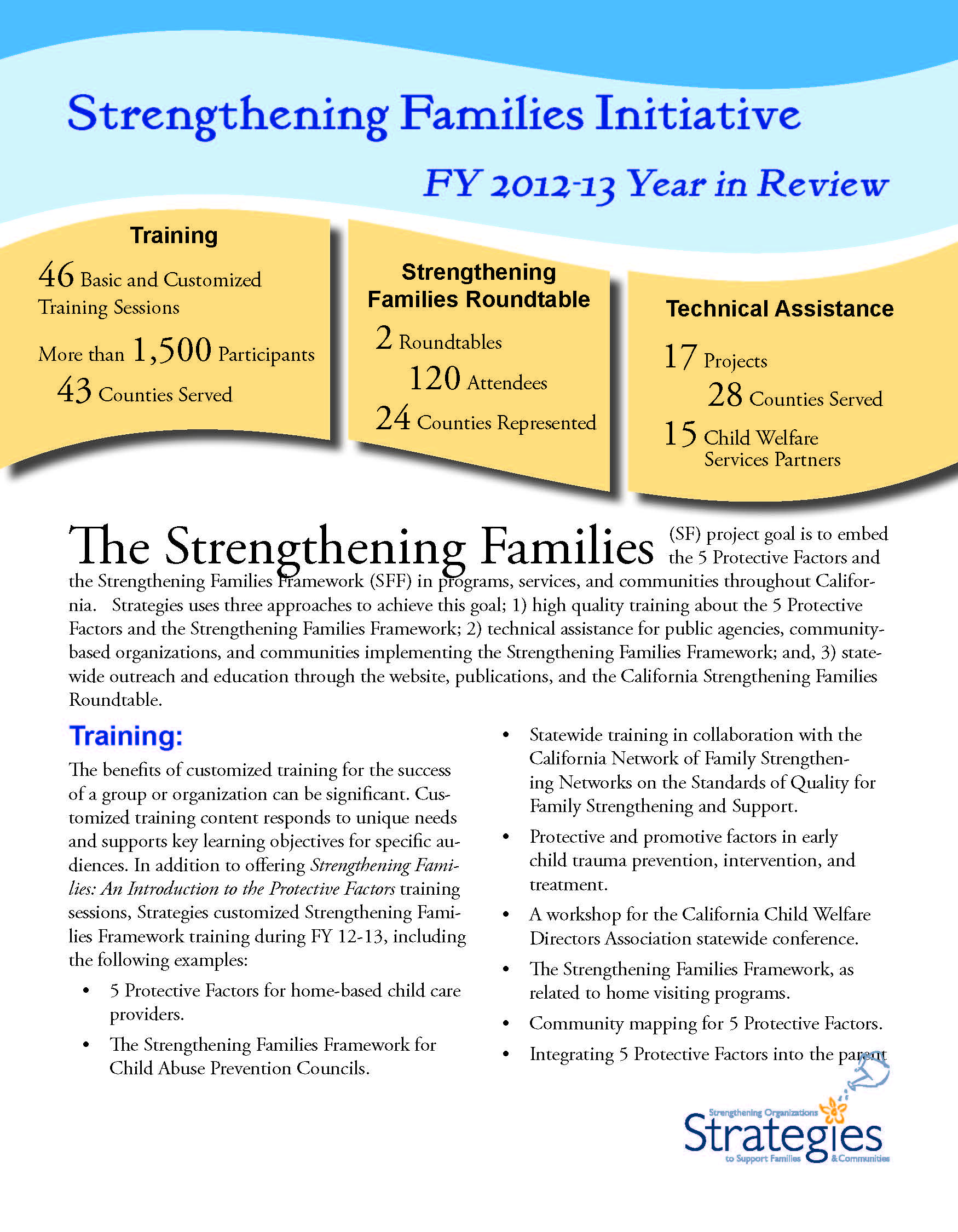 NS7-Strengthening Families Annual Report 2012-13